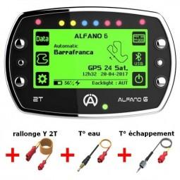 Pack ALFANO 6 2T + rallonge Y 2T A-2190 + sonde eau A-2101 + sonde échappement A-2151