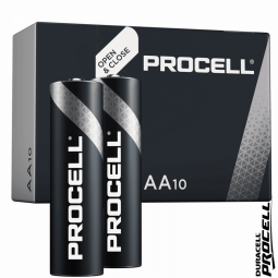 Lots de 10 piles DURACELL PROCELL AA